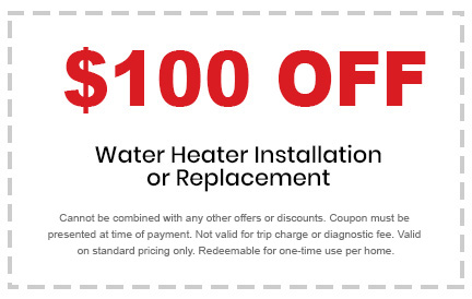 water heater installation or replacement discount