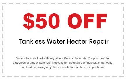 tankless water heater repair discount