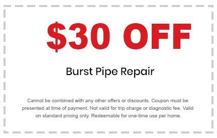 burst pipe repair discount